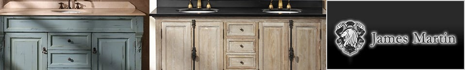 James Martin Solid Wood Bathroom Vanities