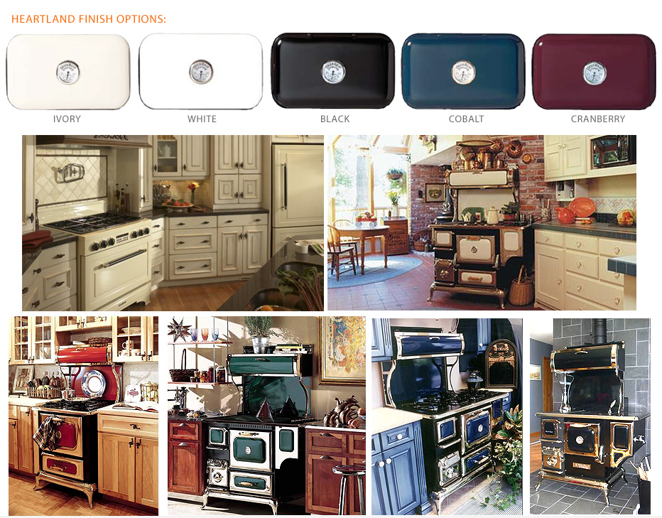 finishes for Heartland Appliances
