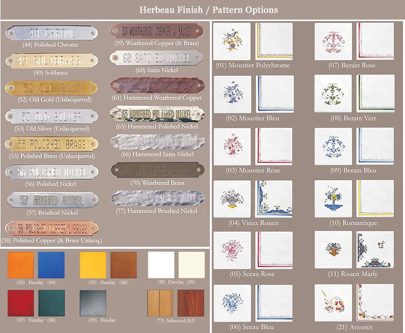 finishes for herbeau products