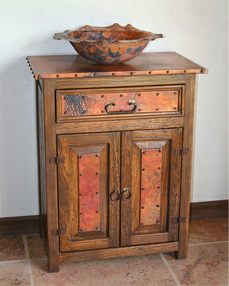 Sierra Copper Bathroom Vanity