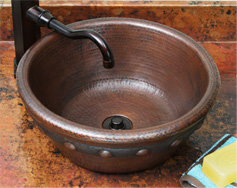 Sierra Copper Vessel Lavatory Sink
